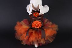 Shades of Fall Dog Tutu Dress by JustForBella on Etsy. I may have to get this for CeCe for when she's working on Saturdays during the fall at the bakery! It's too cute!