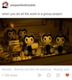 Bendy and the Ink Machine Bendy And The Ink Machine, Funny Pictures With Words, Alice Angel, Night In The Wood, Indie, Gaming Memes, Tumblr Posts, Fnaf, Game Art