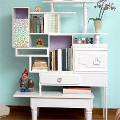 CRAFTGAWKER....Great site w/unlimited CRAFT IDEAS...example these amazing shelves made from discards...