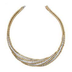 18 Karat Gold, Platinum and Diamond Necklace, Mauboussin,