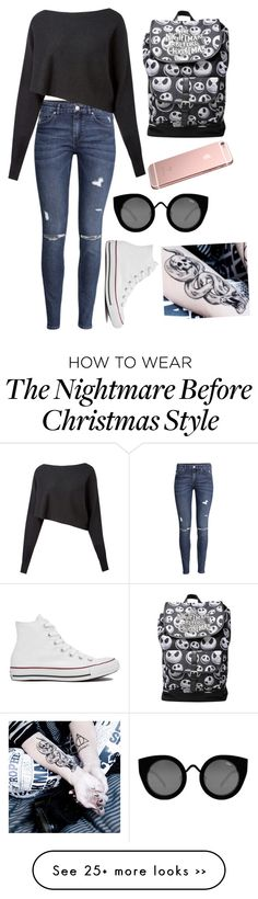"""In my head"" by xxabbeybearxx on Polyvore featuring H&M, Crea Concept, Converse and Quay"