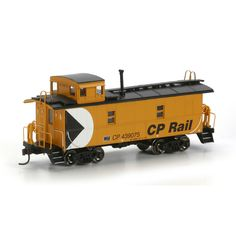 HO RTR Cupola Caboose, CPR/Yellow #439075 (ATH74188): Athearn Trains