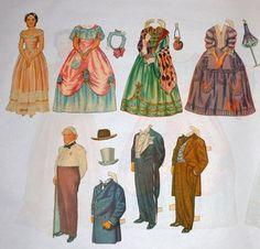 1940's Gone With the Wind Cut Out Paper Dolls 125pcs Rhett Scarlett Mammy Ashley