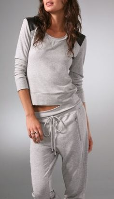What I like about this lounge wear is that if you had to make a quick run, you don't need to change out of it.  Just throw on some shoes and dash!