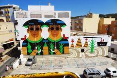 Agostino Iacurci – Mural for Bloop Festival  