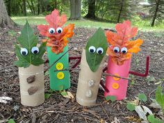 Fall Leaf Finger Puppets by CraftsbyAmanda.com