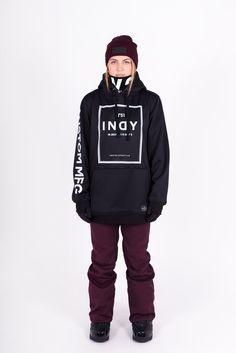 Indyslopestyle Womens Gigi Tech Snowboarding Hoodie Front