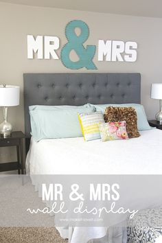 """""""Mr & Mrs"""" Wall Display...fun master bedroom decor! via MichaelsMakers Make It and Love It"""