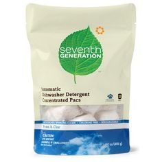 Seventh Generation Automatic Dishwasher Pacs - Free & Clear. Available @ London Drugs #fragrancefree #unscented #scentfree