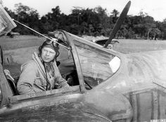 P-38 pilot Dick Bong, highest-scoring US ace with 40 kills, all on P-38's in the Pacific. He was killed while testing a P-80 jet fighter in Aug 1945