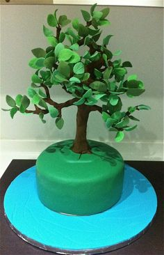 Tall Slim Tree Tutorial by Joylicious Cakes