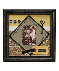 Take a look at this Black 'Mom' Scrapbook Frame by Primitives by Kathy on #zulily today!
