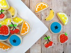 Farmers Market Fruit Cookies 2 Dozen by OldTimeFavorites on Etsy