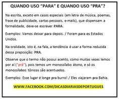 Dicas de Língua Portuguesa!
