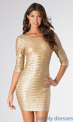 Short Gold Sequin Dress by Ruby Rox at SimplyDresses.com** NEW YEARS EVE DRESS