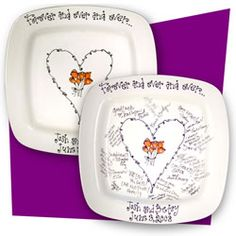 Create aPersonalized WeddingSignature Platers - As You Wish Pottery