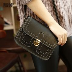 New Lady Retro Women Shoulder Bag PU leather Handbags Female small Messenger bags for women pouch package 2018 sac a main Pouch Packaging, Small Crossbody Bag, Leather Crossbody, Cute Bags, Fashion Handbags, Luggage Bags, Leather Handbags, Pu Leather, Black Leather