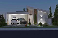 Planta de casa térrea com área gourmet - Projetos de Casas - Modelos de Casas
