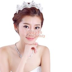 Rhinestone Bridal Hair Accessories Headdress Crown  cost €2.51 Bridal Hair Accessories, Party Accessories, Rhinestone Headband, Wedding 2017, Crystal Wedding, Tiaras And Crowns, Princess Wedding, Headdress, Pageant
