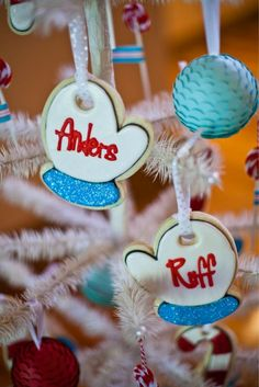 christmas tree cookie ornaments