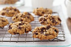 Peanut Butter-Oatmeal Chocolate Chunk Cookies recipe - YUMMY!!!