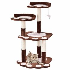 Shop for Gymax Cat Tree Kitten Pet Furniture Multi-level Climb Scratching Posts Paw Brown. Get free delivery On EVERYTHING* Overstock - Your Online Cat Supplies Store! Cat Activity, Tree Furniture, Wood Cat, Sisal Rope, Scratching Post, Cat Paws, Litter Box, Cat Trees, Climbing