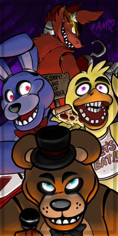 Five Nights At Freddy's fan-art... and it's not even Rule 34! Wow!