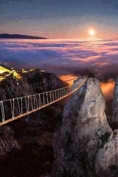 Mount Ai-Petry at night, Crimea,Ukraine #Earth Porn