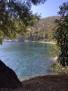 Pefkos beach in Skyros, Greece