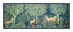 Forest Greenery Runner by Arts and Crafts Henry Dearle and William Morris Counted Cross Stitch Chart