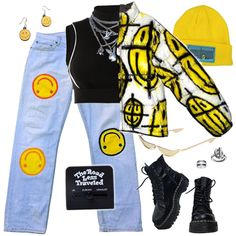 Fashmates Outfit Inspiration: Shop this awesome look on Fashmates. Grunge Outfits, Cute Swag Outfits, Kpop Fashion Outfits, Stage Outfits, Edgy Outfits, Retro Outfits, Teenage Outfits, Girl Outfits, Mode Kpop