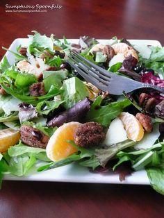 Blueberry Tangerine Manchego Salad