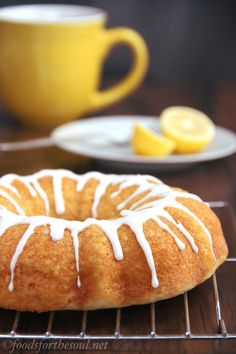 Ricotta bundt cake with almond drizzle. Sinfully sweet and moist, but still secretly healthy!