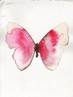Pretty pink and white butterfly by metamorphosing on etsy watercolor animals, watercolour butterfly, watercolor Butterfly Drawing, Butterfly Painting, Butterfly Watercolor, Watercolor Animals, Watercolor Cards, Watercolor Paintings, Watercolors, Tattoo Watercolor, Art Papillon