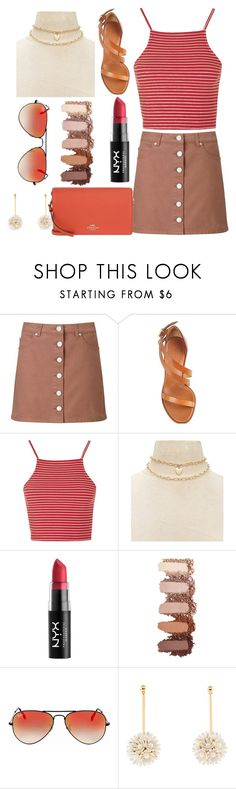 """""""summer outfit"""" by aletraghetti on Polyvore featuring moda, Miss Selfridge, Chloé, Topshop, Forever 21, Ray-Ban, Lele Sadoughi y Coach"""