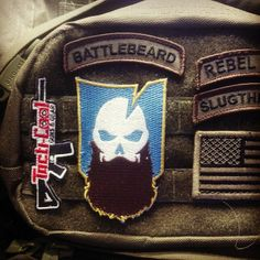 I want these patches! Tactical Beard, Tactical Patches, Badass Style, My Style, Beard Game, Tac Gear, Tactical Clothing, Cool Patches, Morale Patch