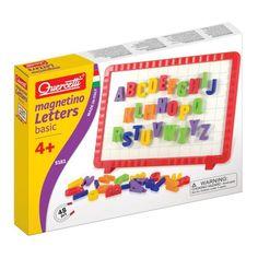 Magnetbokstäver och magnettavla, Quercetti, Magnetiska rittavlor  Bamba.se Plastic Cutting Board, Lego, Letters, Letter, Fonts, Legos, Calligraphy