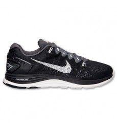 sale retailer 1efe5 5114e Soldes Nike Lunarglide+ 5 Homme Noir Blanc Gris   Obscurité-20