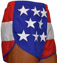 Flag Running Shorts - USA