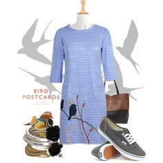 For the love of birds by eshakti on Polyvore featuring Vans and Whistles