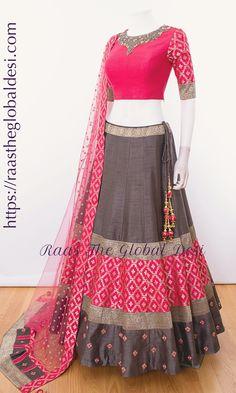 Raas The Global Desi lehenga Indian dress chaniya choli gown saree choli-Raas The Global Desi-Chaniya choli-[chaniya_choli]-[chaniya_choli_online_USA]-[chaniya_choli_for_garba]-[chaniya_choli_for_navratri]-Raas The Global Desi Salwar Designs, Half Saree Designs, Choli Designs, Kurti Designs Party Wear, Lehenga Designs, Blouse Designs, Indian Gowns Dresses, Indian Fashion Dresses, Dress Indian Style