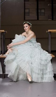 NYCB principal dancer Tiler Peck models ballet inspired fashion from Reem Acra, Cult Gaia and Swarovski.
