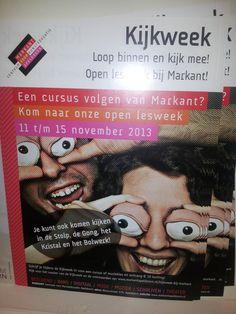 Kijkweek: Sterk> Duidelijk wat en wanneer de Kijkweek is. Zwak> Een beetje vreemde foto.