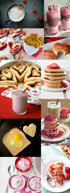 12 Special Valentine Breakfast Ideas - Babble love the smoothie recipe and cinnamon roll recipe! Valentines Breakfast, Valentines Day Treats, Holiday Treats, Holiday Recipes, Valentine Special, Love Food, Just In Case, Food To Make, Sweet Treats