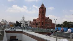 View from Metro subway entrance near Chennai Central. In view: #RiponBuilding and #VictoriaPublicHall