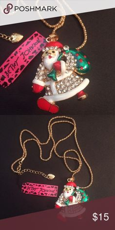 Keep on Trucking Santa Betsey Johnson. Keep on trucking Santa necklace. New! Bundle this with some of my other jewelry save on shipping! I have many other Betsey Johnson necklace is available Betsey Johnson Jewelry Necklaces