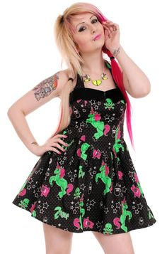 612943f5fecc Zombie Unicorn dress by Hell Bunny Unicorn Dress, Gothic Dress, Alternative  Fashion, Alternative