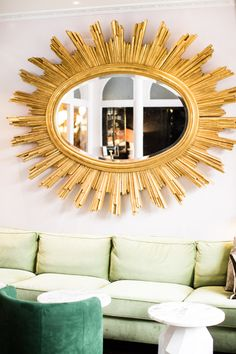 Boutique Hotel on Left Bank of Paris | India Mahdavi | Sunburst Mirror