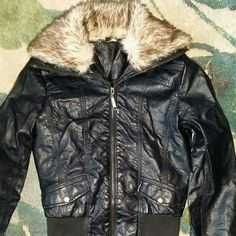 Faux leather jacket No holes or stains Jackets & Coats