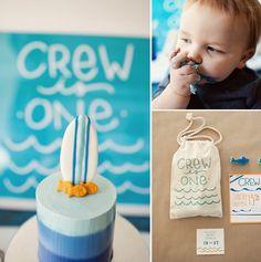 Cutest little boy's 1st birthday party! Surf/beach theme.